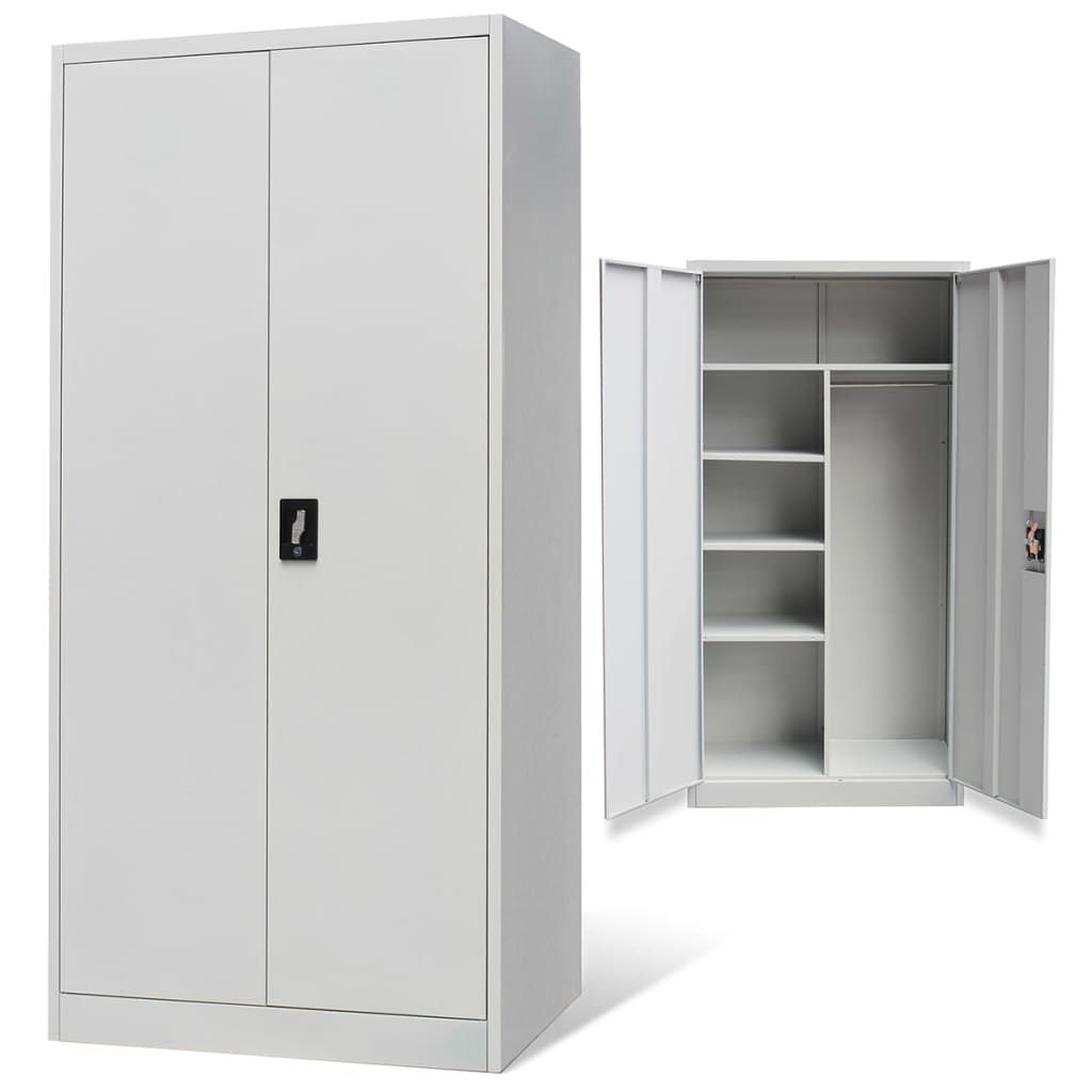 vidaxl-metal-locker-style-cabinet-2-doors-grey