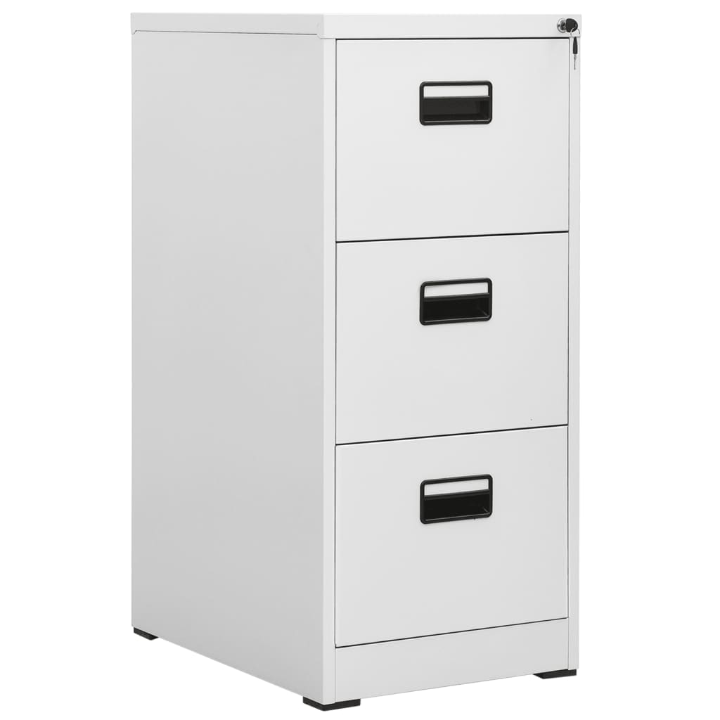acheter armoire de bureau en m tal 3 tiroirs gris pas. Black Bedroom Furniture Sets. Home Design Ideas
