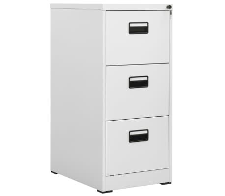 Vidaxl Hanging File Cabinet 3 Drawer Gray Metal Office Storage Organizer