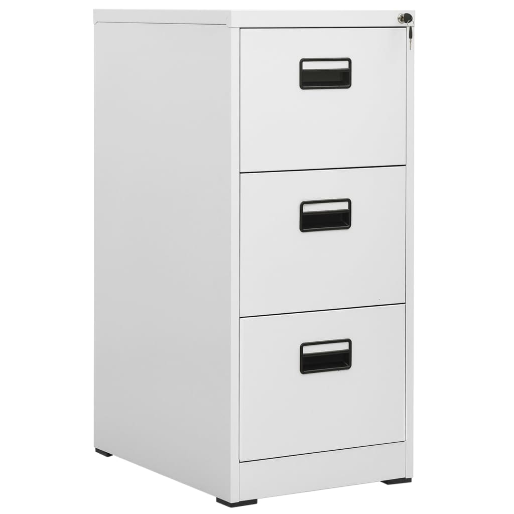 metal hanging file cabinet 3 drawers grey. Black Bedroom Furniture Sets. Home Design Ideas