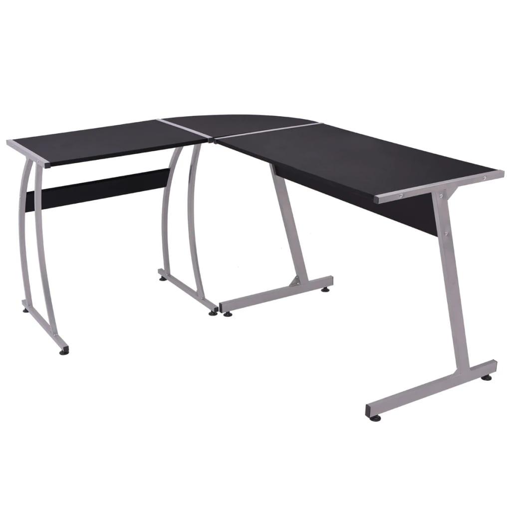 vidaXL-Escritorio-Esquina-Forma-L-Roble-Negro-152x117x74cm-Aglomerado-PVC-Metal