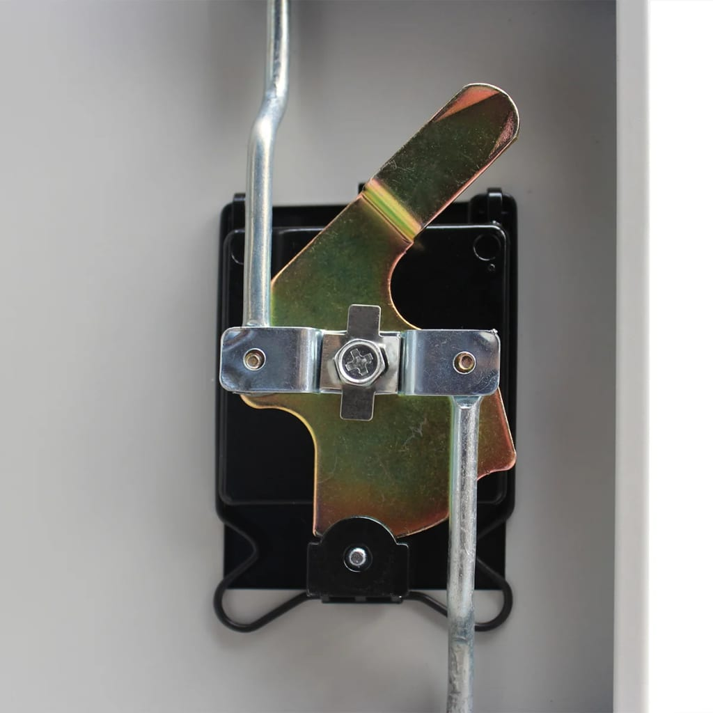 Acheter vidaxl armoire de bureau avec 2 portes acier 90 x for Bureau 90 cm de large