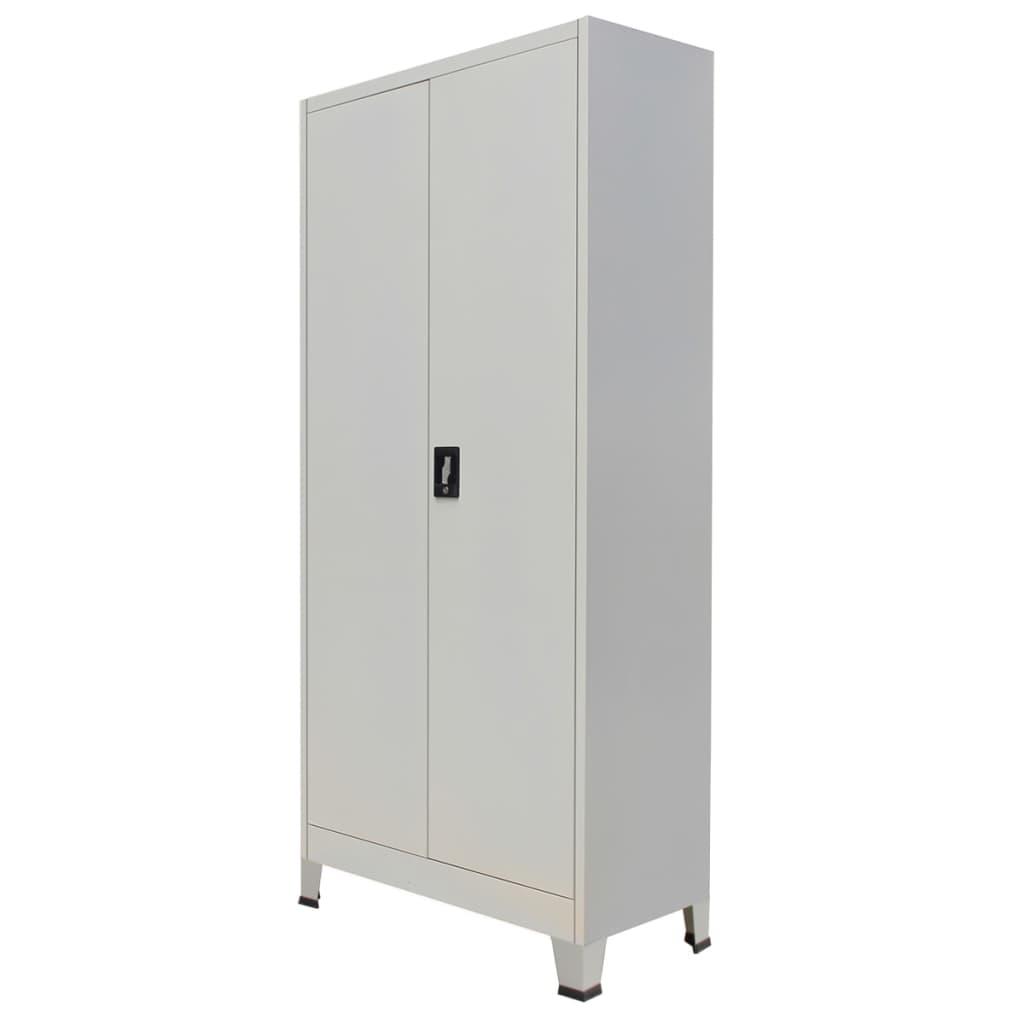 Afbeelding van vidaXL Kantoorkast met 2 deuren staal 90x40x180 cm grijs