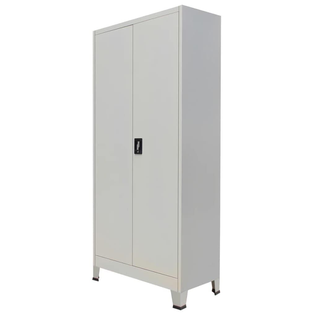 vidaXL szürke 2 ajtós acél irodai szekrény 90 x 40 180 cm