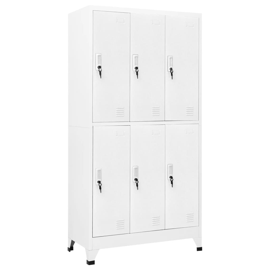 acheter vidaxl armoire casiers avec 6 compartiments. Black Bedroom Furniture Sets. Home Design Ideas