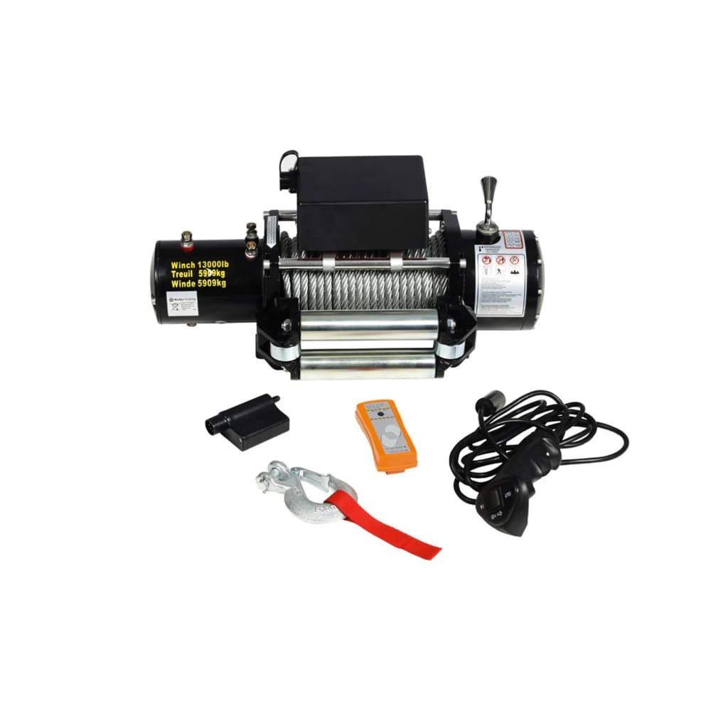 Afbeelding van vidaXL Lier elektrisch 12v 5909 kg met afstandsbediening EOL