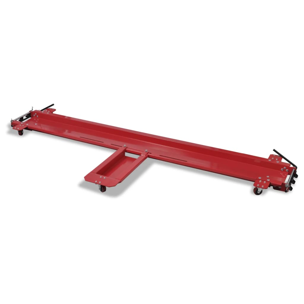 vidaXL Motorcycle Dolly Red Stand