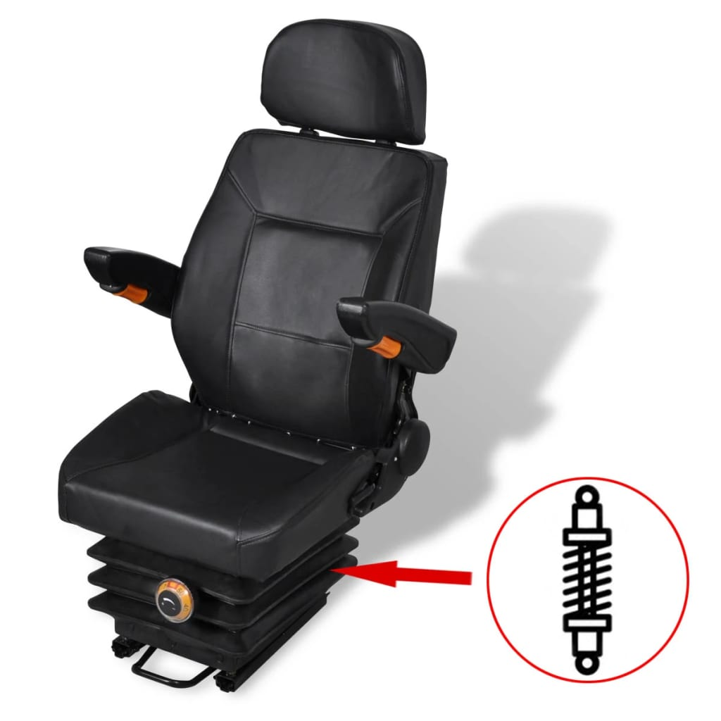 vidaXL Fotel do ciągnika z zawieszeniem