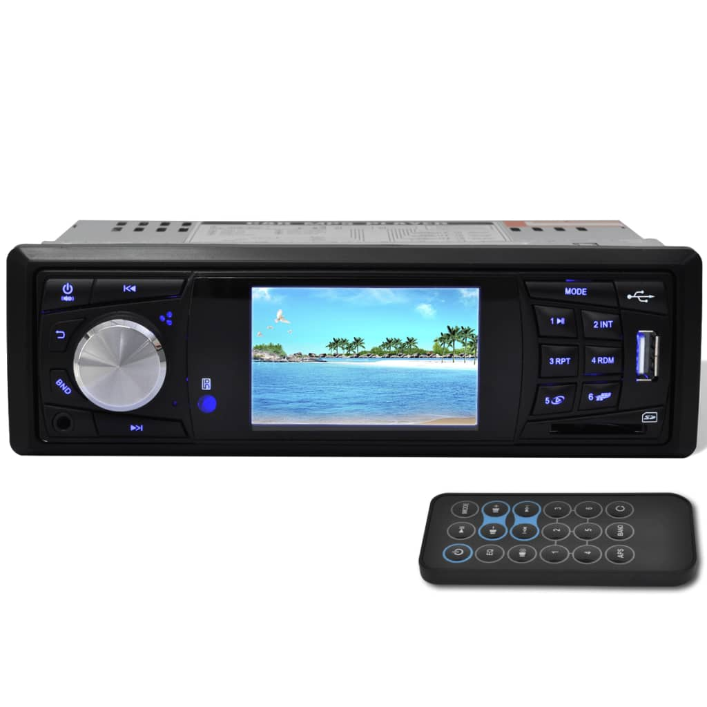 car stereo 1 din mp3 mp5 fm radio media player with 3 inch hd screen. Black Bedroom Furniture Sets. Home Design Ideas