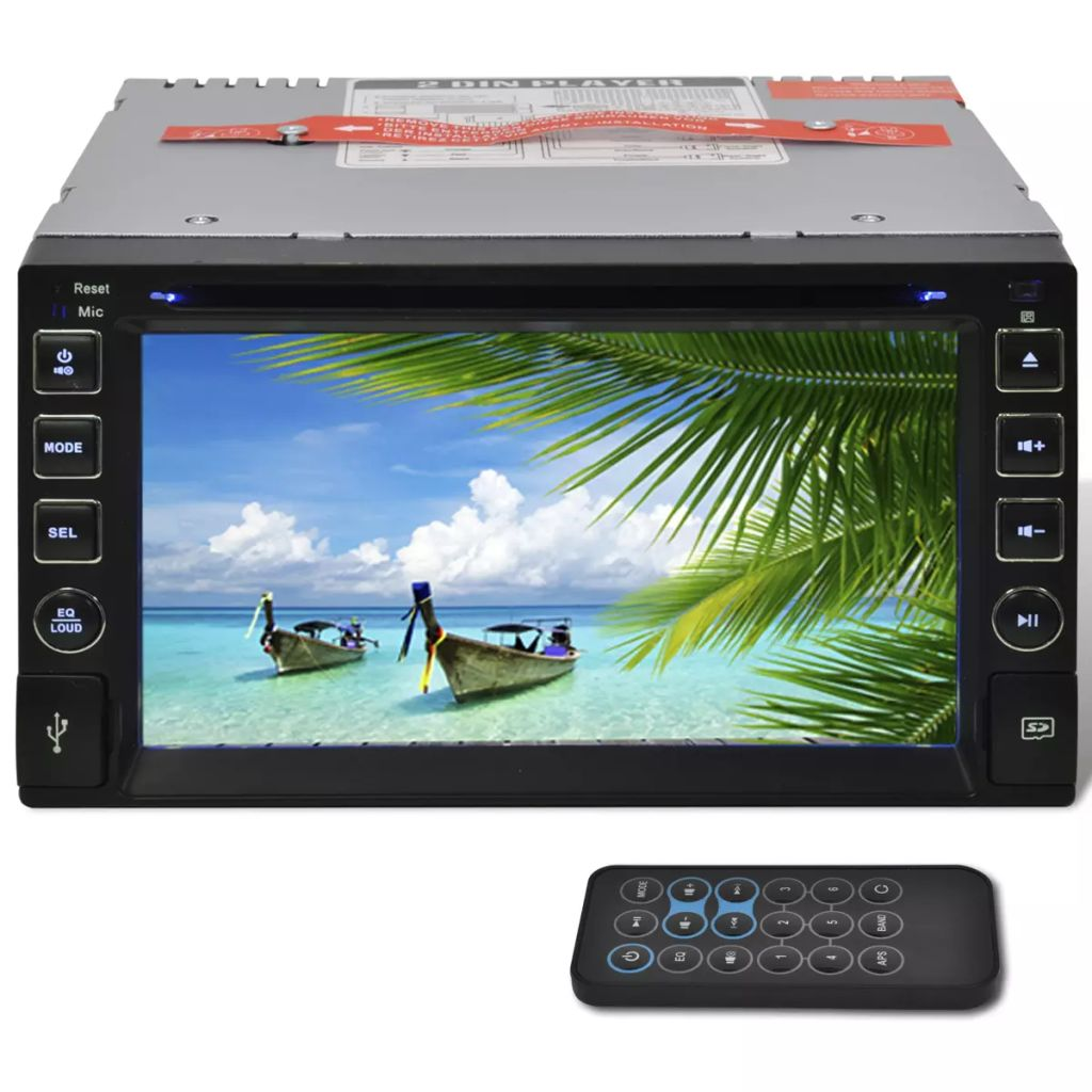Car Stereo 2 DIN DVD Player 6,2 Inch HD Touchscreen