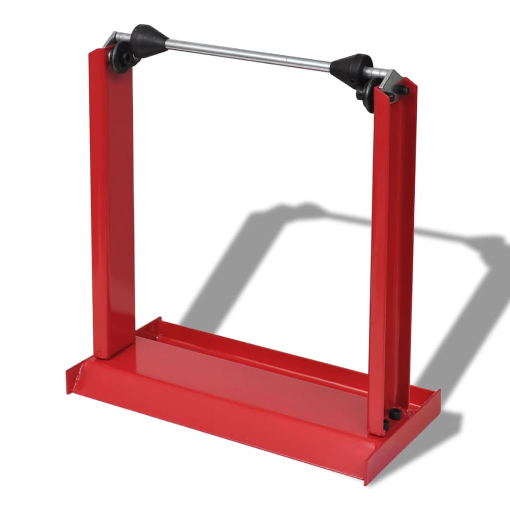 vidaXL Professional Motorcycle Wheel Balancing Stand Red