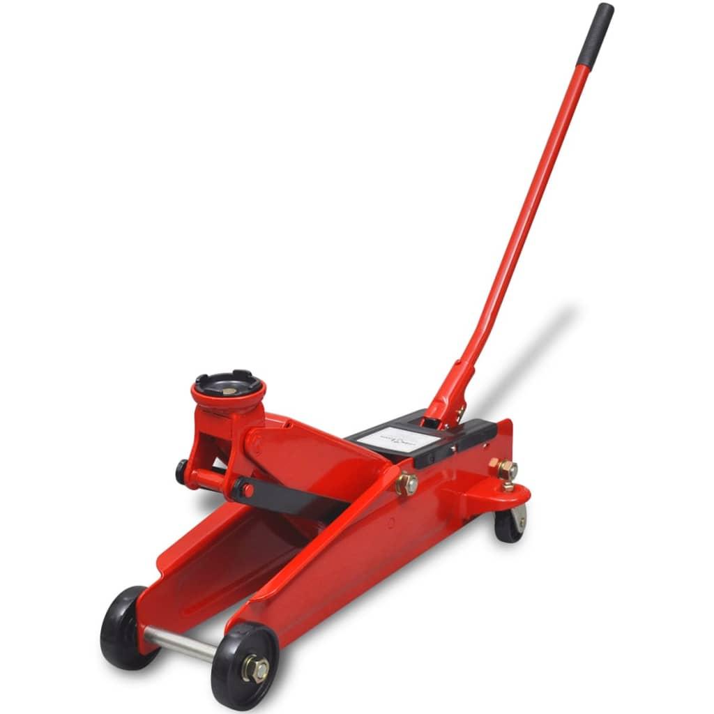 vidaXL Alacsony hidraulikus 3 tonna kapacitású talaj emelő piros