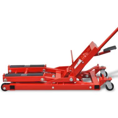 Hydraulický zvedák na motorku / čtyřkolku, 680 kg, červený[4/6]