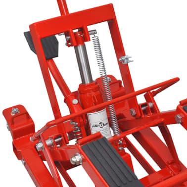 Hydraulický zvedák na motorku / čtyřkolku, 680 kg, červený[2/6]