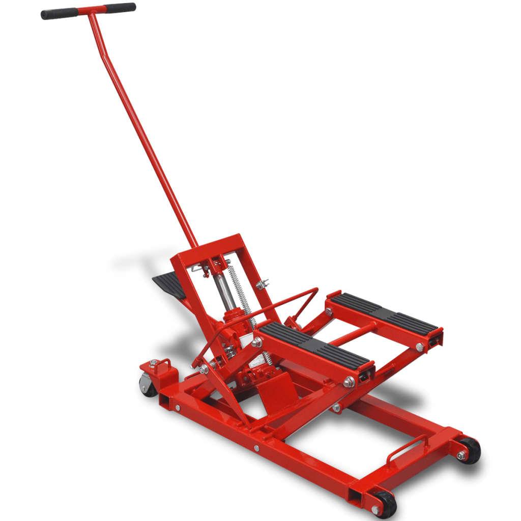 vidaXL Hidraulikus Motorkerékpár/ATV emelő 680 kg piros