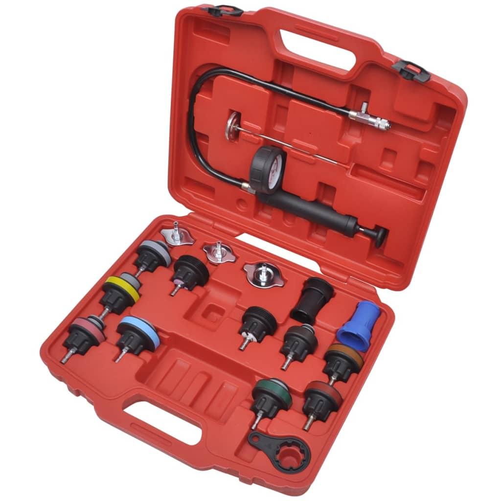 vidaXL 18 pcs Radiator Pressure Tester Kit