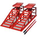 vidaXL Reparasjons-rampe til Bil 2 pk. Rød stål