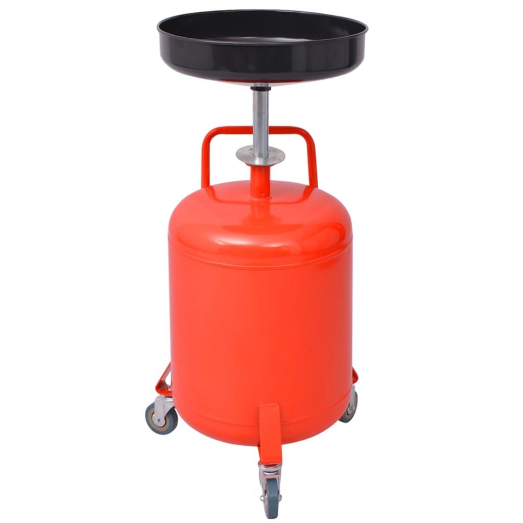 vidaXL 49,5 L Piros acél fáradt olaj tároló