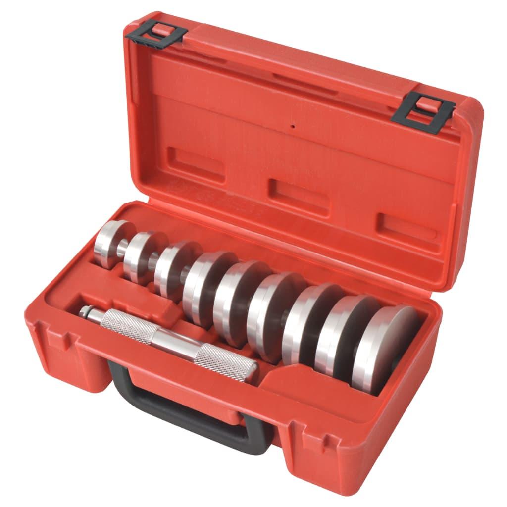 vidaXL 10 darabos golyóscsapágy-, szimeringbeütő készlet