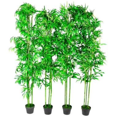 Planta artificial en maceta bamb 4 unidades 190 cm - Bambu cuidados en maceta ...