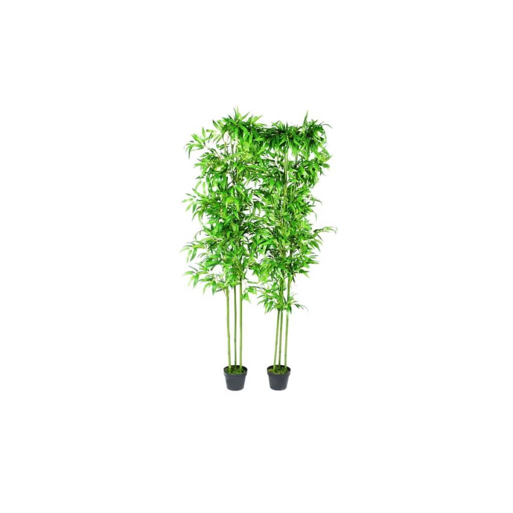 Planta artificial en maceta bamb 2 unidades 190 cm - Planta artificial ...