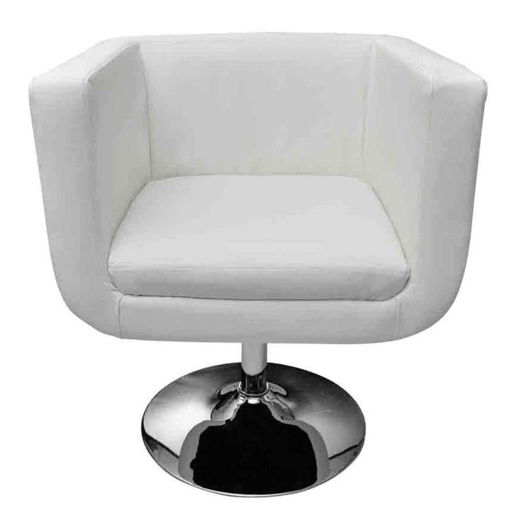Vidaxl moderna silla ajustable blanco cromo taburete dormitorio o oficina ebay - Vidaxl sillas ...