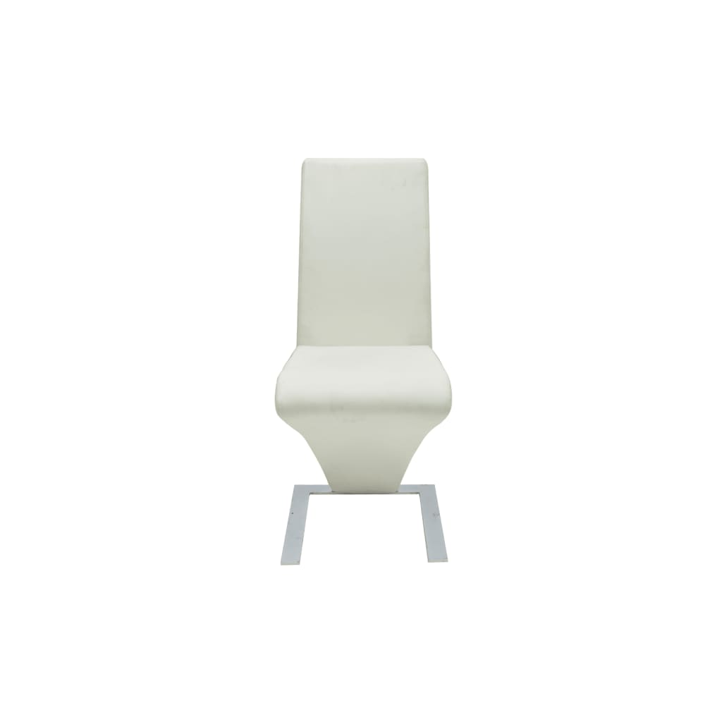 VIDAXL 2X SEDIE da Pranzo in Similpelle Bianche Design Moderne ...