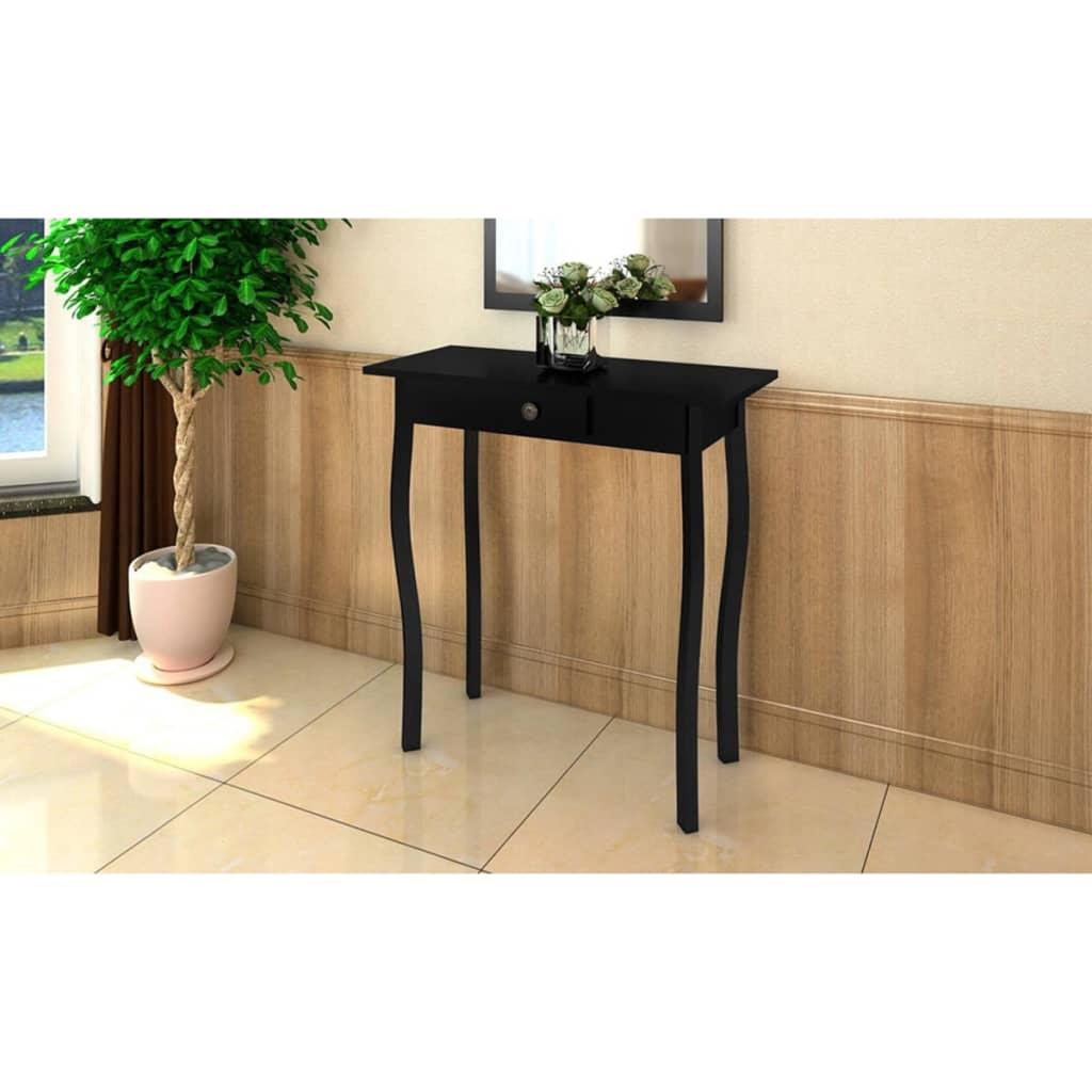 vidaXL Nyaraló Stílusú Asztal Fekete