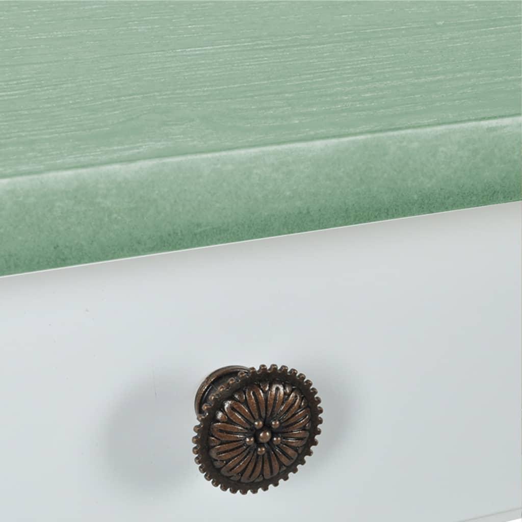 vidaXL-Mesa-de-estilo-cottage-Color-Blanca-y-Grisacea-Verde-Marron-73x36x73cm