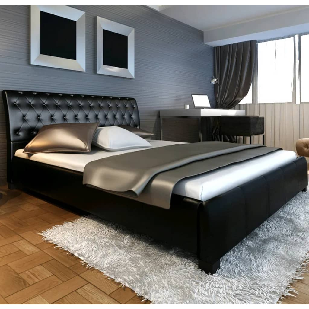 2 persoonsbed corrado 180 x 200 cm zwart. Black Bedroom Furniture Sets. Home Design Ideas