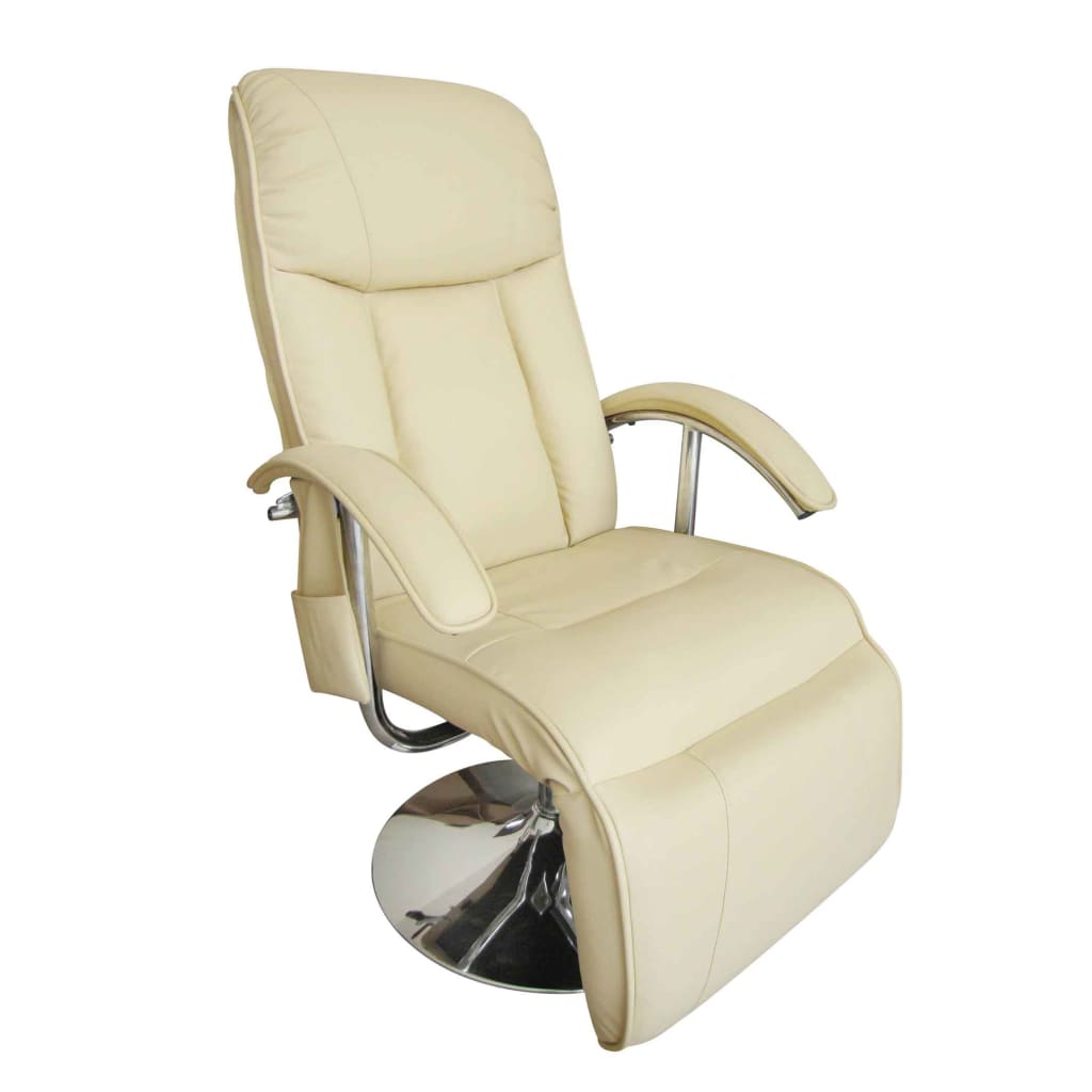 Electric tv recliner massage chair creme white - Fauteuil relax electrique ikea ...