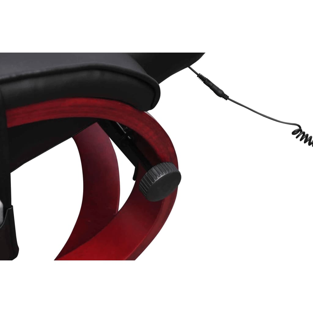 Electric tv recliner massage chair black with a footstool www vidaxl -  Electric Tv Recliner Massage Chair Black With A Footstool 3 8