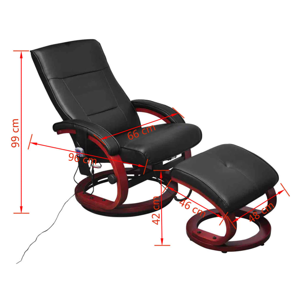 massagesessel fernsehsessel mit hocker relaxsessel tv. Black Bedroom Furniture Sets. Home Design Ideas