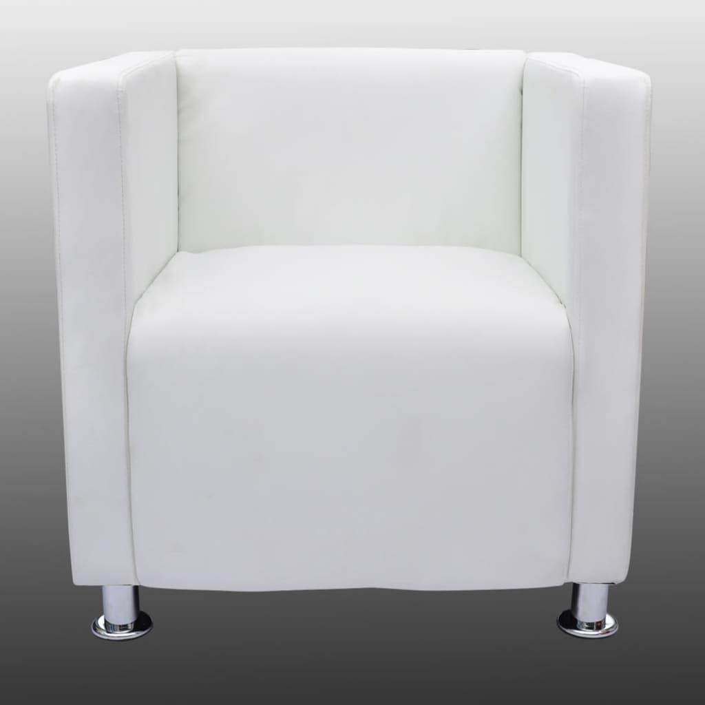 Poltrona design lorraine moderna similpelle bianca for Poltrona design