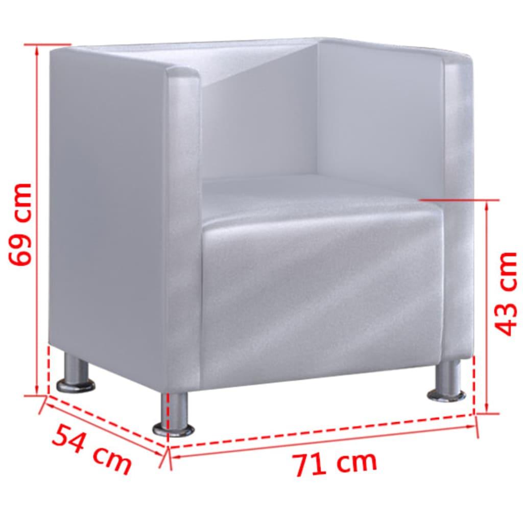 vidaXL-Sillon-cuadrado-cuero-artificial-moderno-blanco