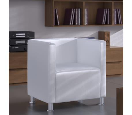 Poltrona design lorraine moderna similpelle bianca - Poltrona moderna design ...