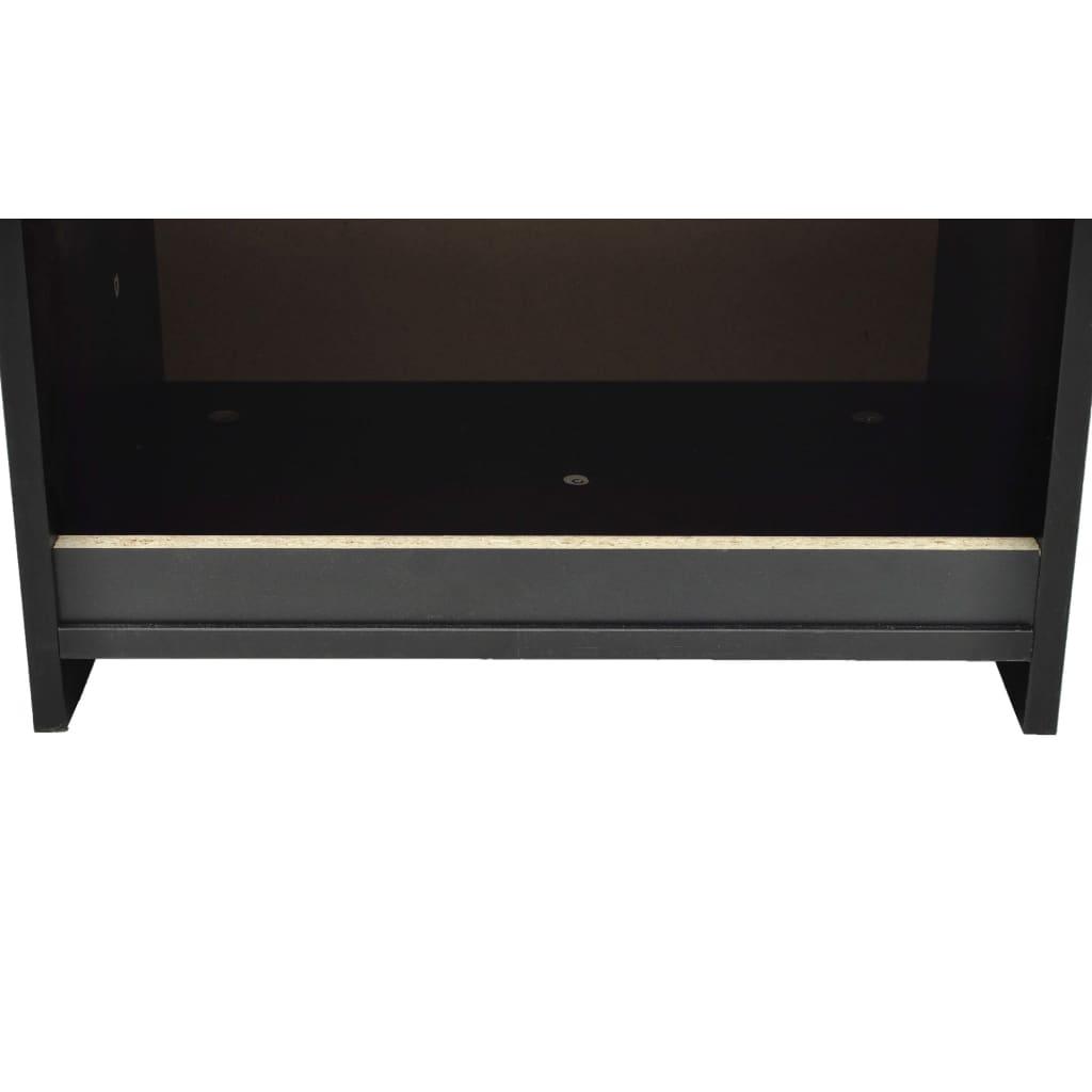 vidaXL-2x-Tables-de-Chevet-avec-1-Tiroir-Noir-Table-de-Nuit-Chambre-a-Coucher miniature 5