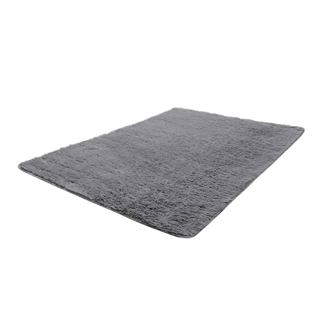 la boutique en ligne tapis poils long touffu gris 120 x 170 cm 2600g m2. Black Bedroom Furniture Sets. Home Design Ideas