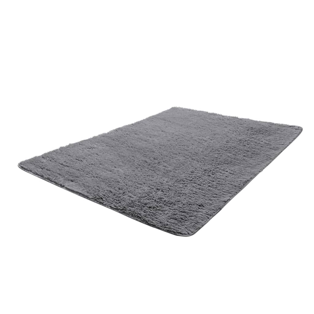 la boutique en ligne tapis poils long touffu gris 200 x 290 cm 2600g m2. Black Bedroom Furniture Sets. Home Design Ideas
