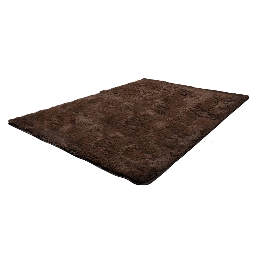 acheter tapis poils long touffu marron 160 x 230 cm 2600g m2 pas cher. Black Bedroom Furniture Sets. Home Design Ideas
