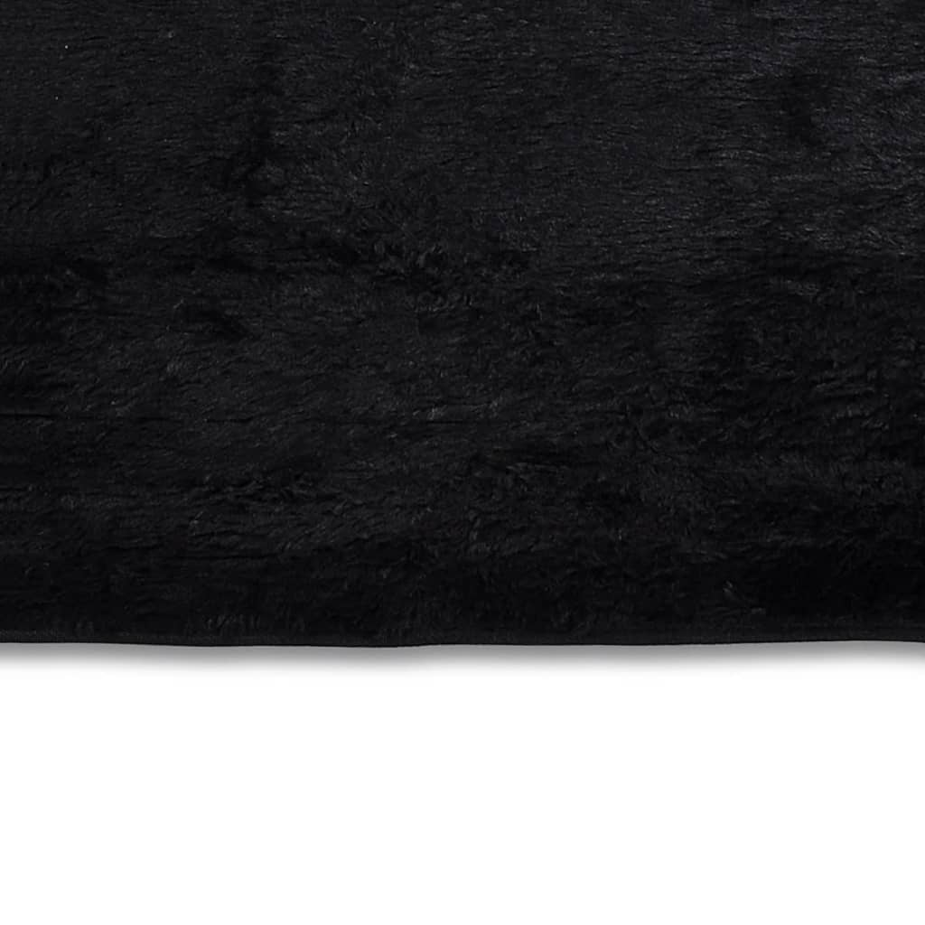 la boutique en ligne tapis poils long touffu noir 120 x 170 cm 2600g m2. Black Bedroom Furniture Sets. Home Design Ideas