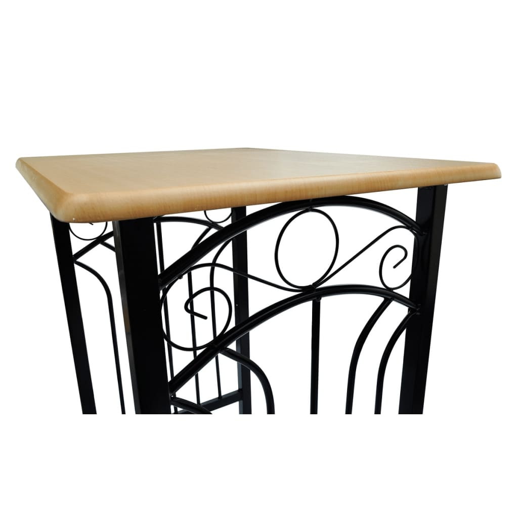 La boutique en ligne lot d 39 une table haute de bar avec 2 for Table de cuisine haute