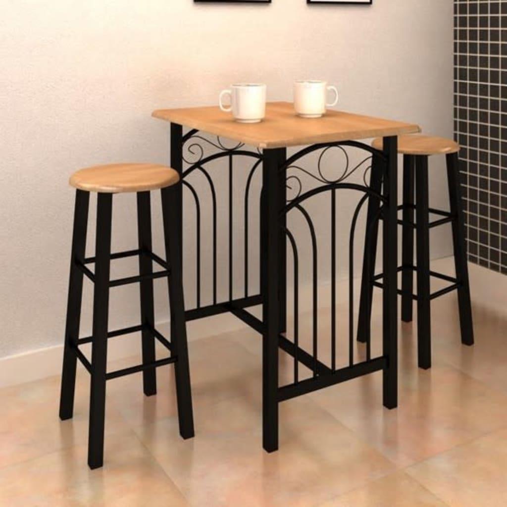 Tavolo rettangolare da cucina con 2 sedie set in legno - Tavolo cucina con sedie ...