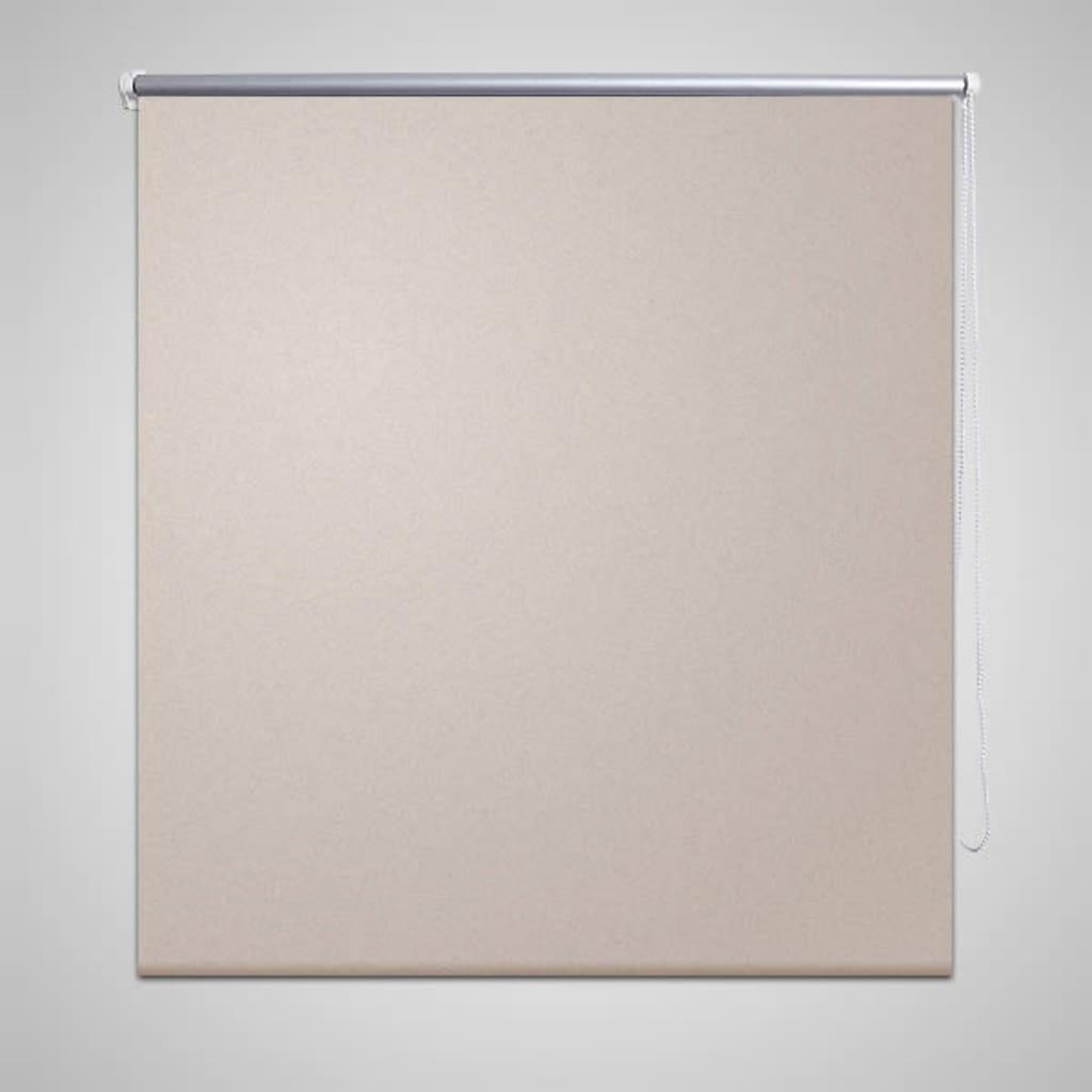vidaXL-Verdunklungsrollo-Seitenzug-Klemmrollo-Klemmfix-Kette-80-x-175-cm-beige