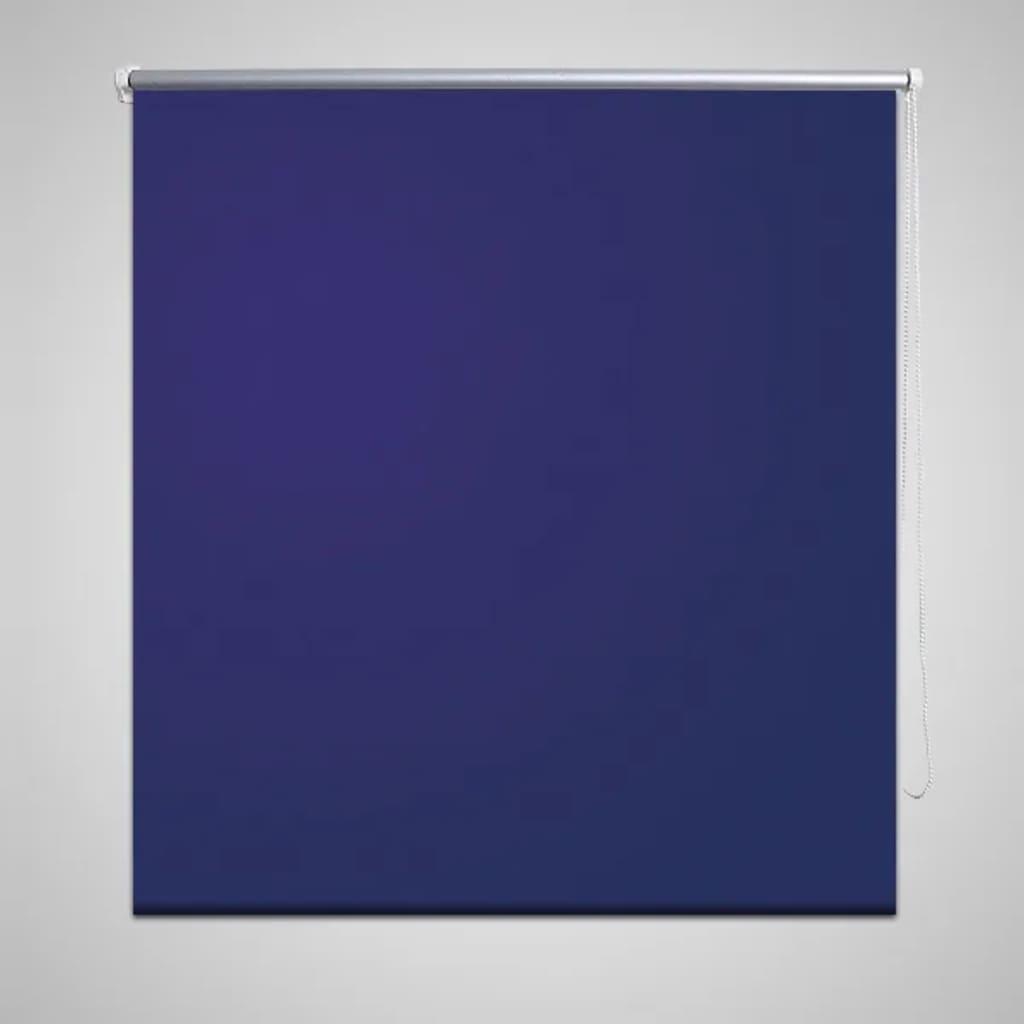 vidaXL Verdunklungsrollo Seitenzug Klemmrollo Klemmfix Kette 100 x 175 cm blau