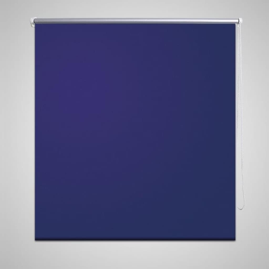 vidaXL Rolgordijn Verduisterend 80 x 230 cm Marineblauw Rol Gordijn Gordijnen
