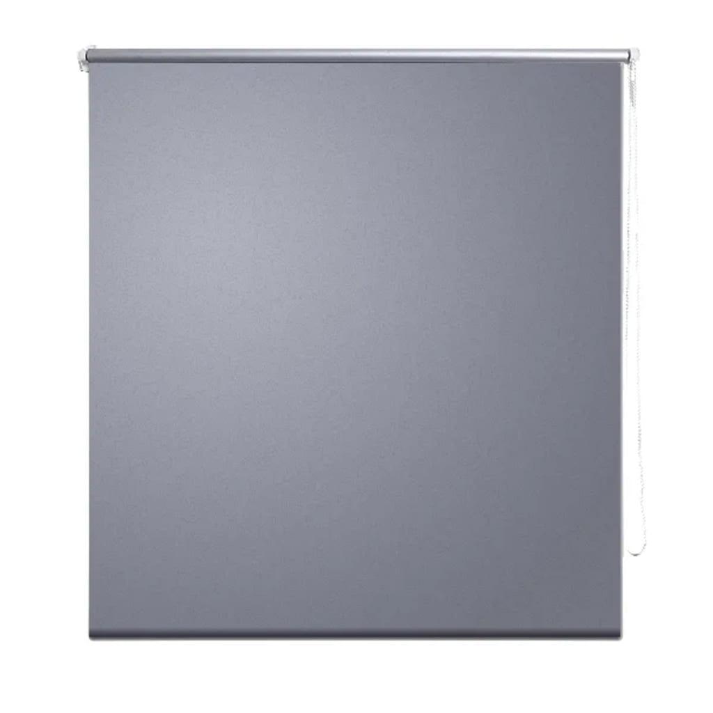 Rolgordijn verduisterend 80 x 230 cm grijs for Rolgordijn verduisterend