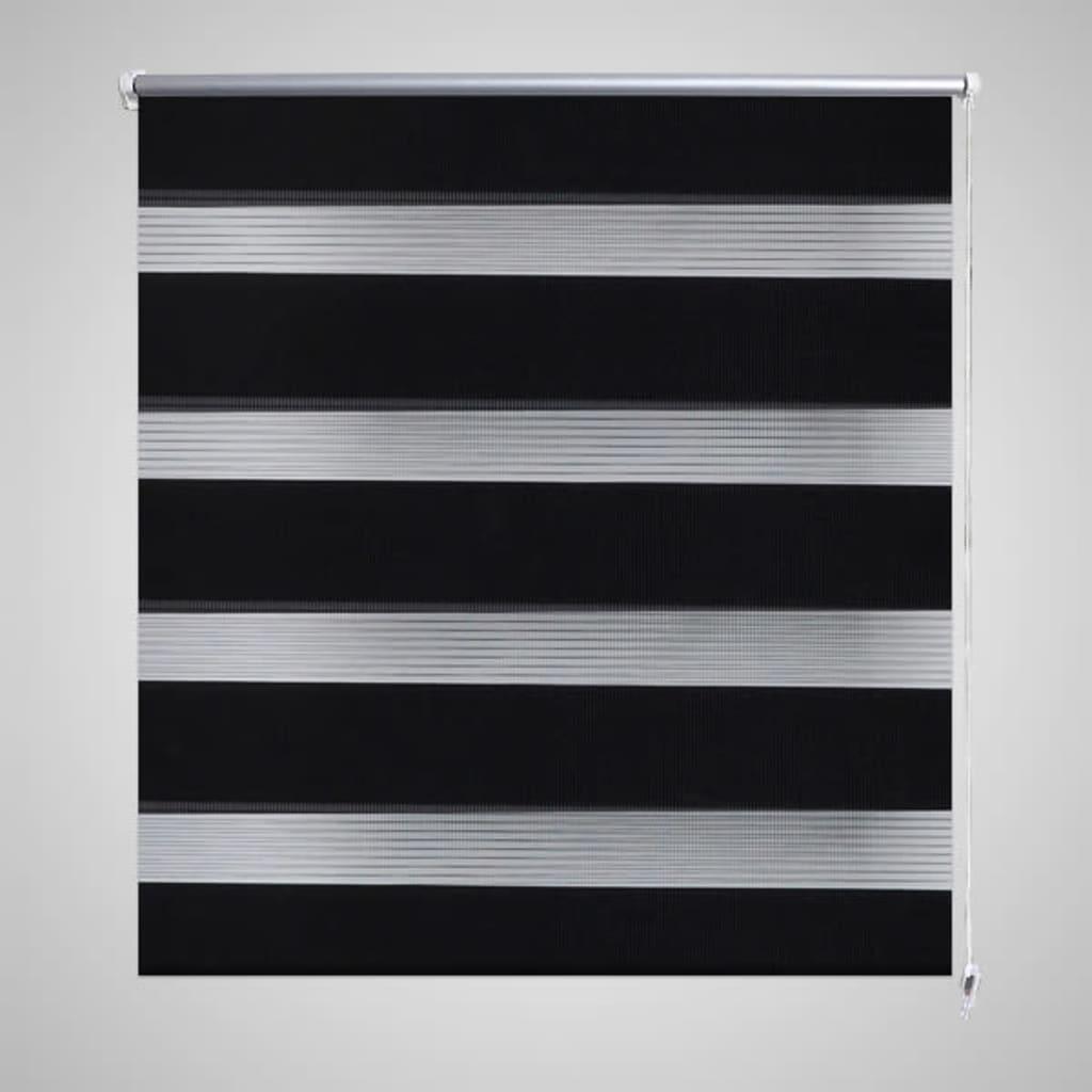 Rullgardin randig svart 40 x 100 cm transparent