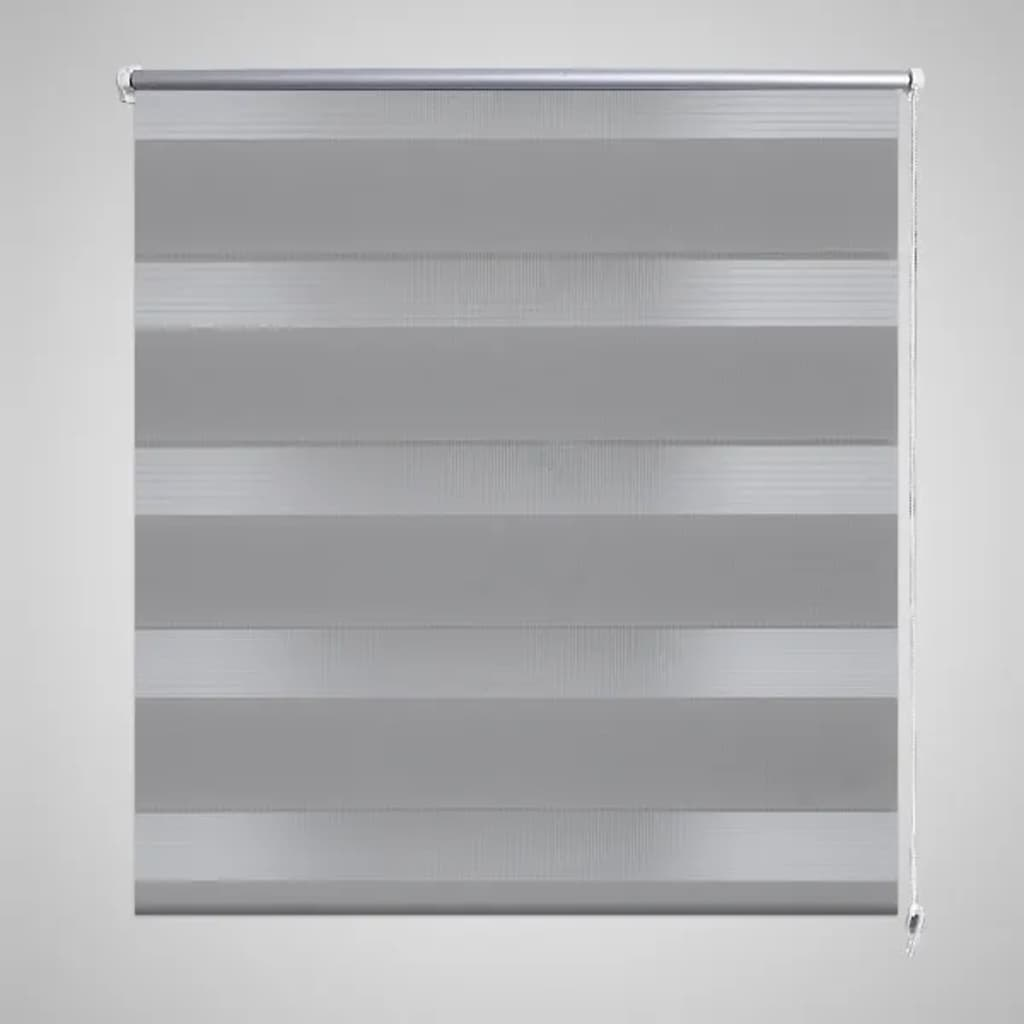 Rullgardin randig grå 50 x 100 cm transparent