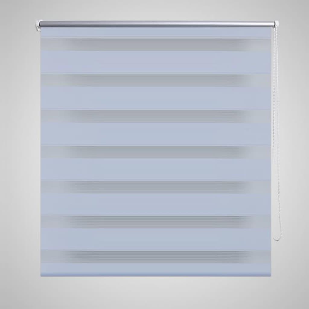 Rullgardin randig vit 90 x 150 cm transparent
